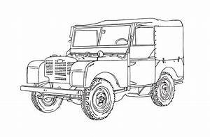 land rover series i ink drawing fmp design work land With custom land rover discovery