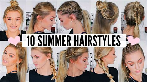 cute easy summer hairstyles youtube