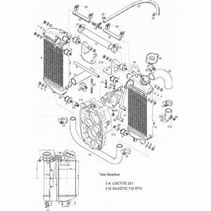 Rotax Radiators 582 618 Radiator Set Low