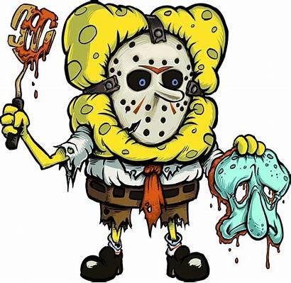 Spongebob Horror Bob Oc Spong Mashup Cartoon