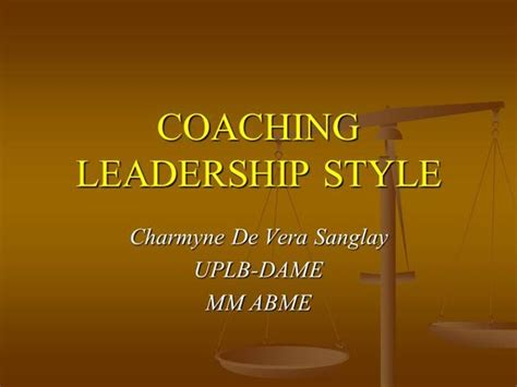 coaching leadership style authorstream