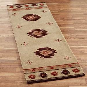 Southwest diamond wool rug runners for Southwest rugs