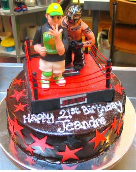 wrestling wwe theme chocolate birthday cake  ring