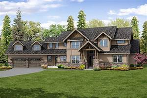 Lodge, Style, House, Plans, -, Timberline, 31-055