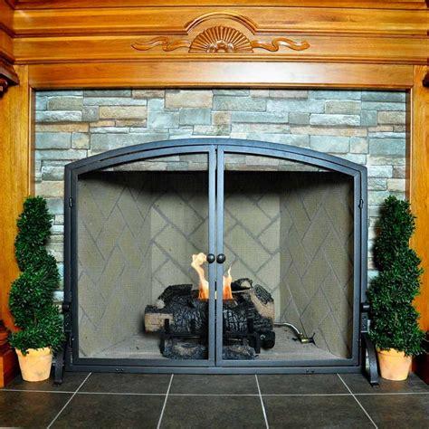 large single panel olde world iron fireplace screen
