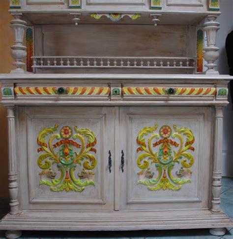 buffet cuisine bas vaisselier peint meuble relooké