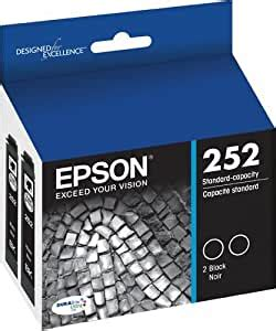 Amazon.com: Epson 252 Genuine Ink Cartridge 2 Blacks