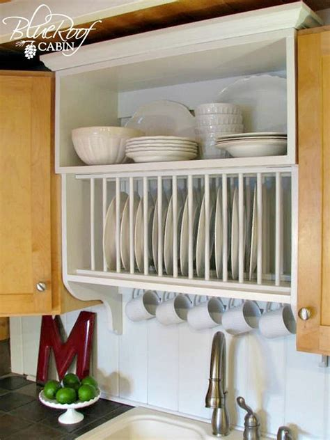 Update Builder Grade Kitchen Cabinets With A Plate Rack
