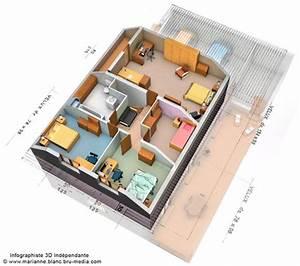 Plan De Maison Plain Pied Avec 1 Chambre