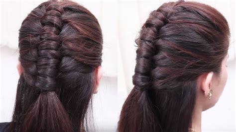 beautiful hair style  girls ladies hair style