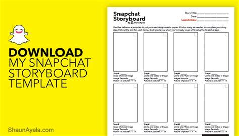 Snapchat Template Snapchat Storyboard Shaun Ayala