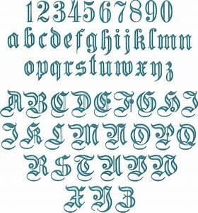 Gothic #1 Alphabet