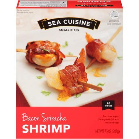 ea cuisine sea cuisine small bites bacon sriracha shrimp 7 3 oz