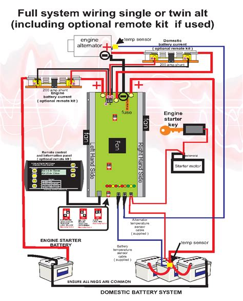 Power Wiring by Sterling Power Alternator To Battery Charger 12v 130a