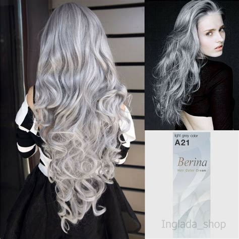 Light Silver Hair by Berina A21 Hair Color With Light Gray Color
