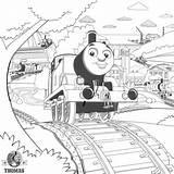 Train Steam Thomas Coloring Drawing Locomotive Engine Tank Pages Printable James Worksheet Getdrawings Popular Rail sketch template