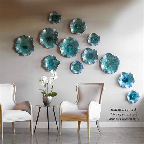abella ceramic abstract flower art set  wall  table
