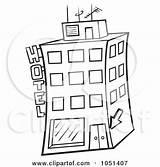 Hotel Outline Coloring Clip Clipart Illustration Royalty Vector Dero Designlooter Illustrations Clipartof 470px 19kb sketch template
