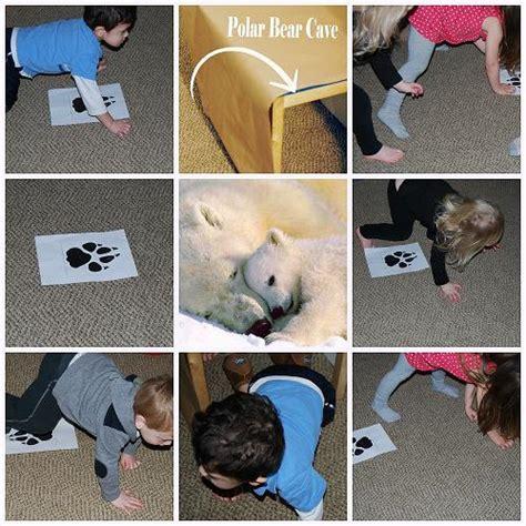 polar activities and books for preschool the 595   Polar Bear Large Motor Game