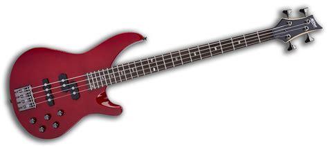 mbtr mitchell electric bass guitar transparent red