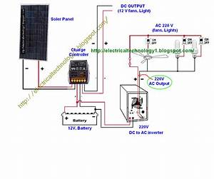 Wiring Diagram For Solar Panel To Battery Collection