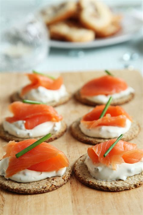 salmon canapes smoked salmon canapes free stock photo domain