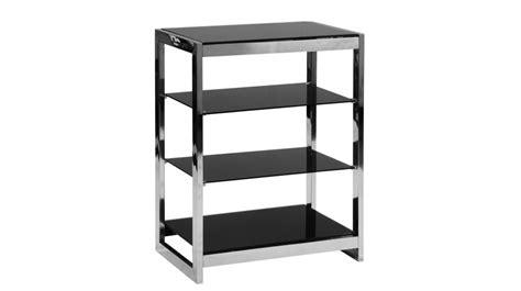 canapé en u pas cher etagère à 4 plateaux en inox et verre trempé noir meuble
