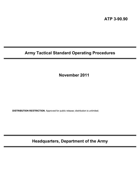 Army Standard Operating Procedure | Templates at