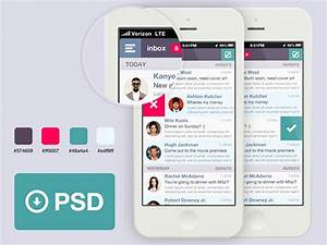 email app template psd freebiesbug With facebook app template psd