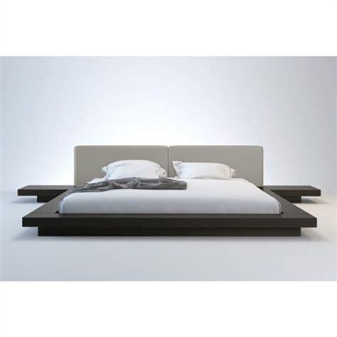 modloft worth bed modloft worth platform wenge dusty grey leather bed ebay
