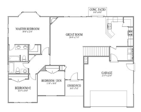 simple ranch house plans awesome simple open ranch floor plans cottage house plans
