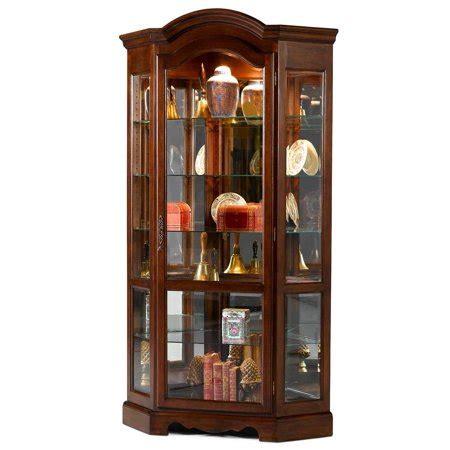 curio cabinets walmart arch top corner curio cabinet walmart