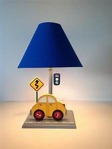Cars table lamps for kids room kids lamps by under ten for Cars 2 table lamp