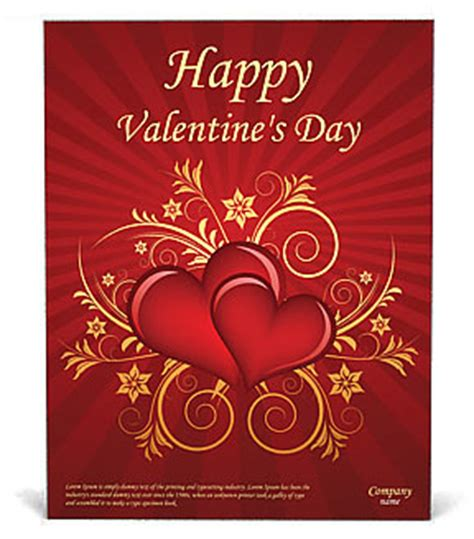 valentines day poster template design id