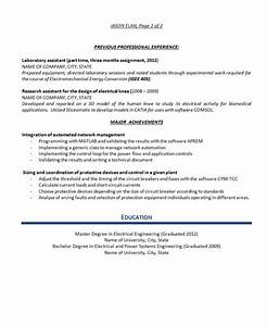 Power System Engineer Resume Electrical Engineer Resume Example