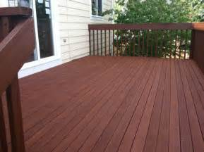 Restaining A Deck With Solid Stain by Solid Deck Stain Before After Home Design Ideas