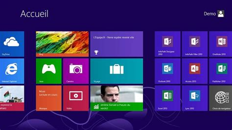 mode bureau windows 8 windows 8 pilotage au doigt et à la souris tuiles