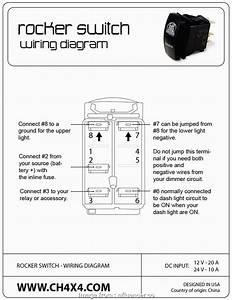4 Prong Toggle Switch Wiring New Kcd4 Rocker Switch Wiring Diagram 4 Terminal  Toggle A Wiring
