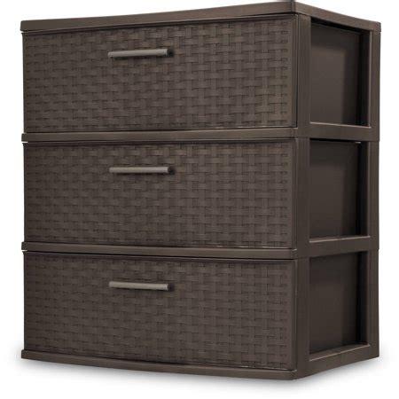 sterilite 5 drawer wide tower sterilite 3 drawer wide weave tower espresso walmart