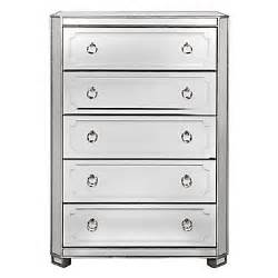 simplicity mirrored 5 drawer tall chest amethyst