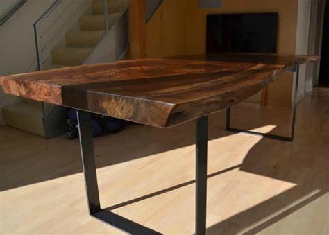 gorgeous  edge claro walnut slab table salvaging