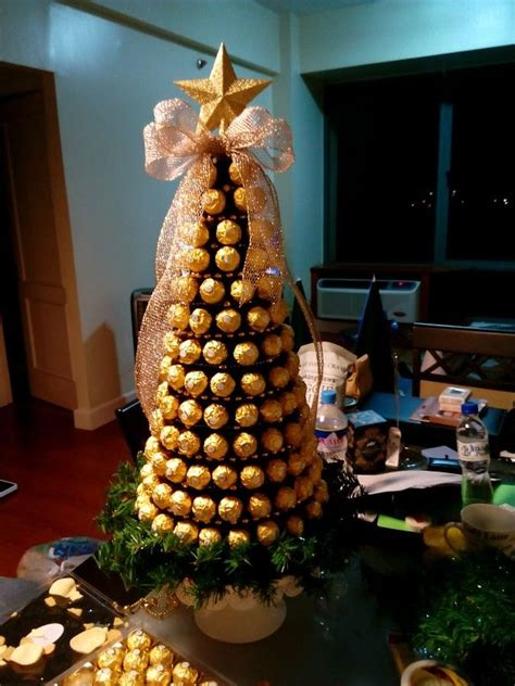 roche christmas tree 1000 ideas about ferrero rocher tree on chocolate bouquet sweet trees and