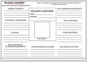 Client customer profile sheet for Sales customer profile template