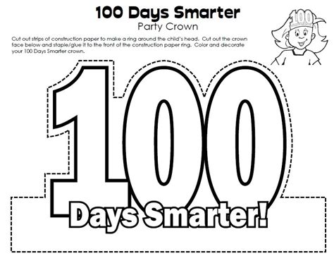 100th Day Of School Crown Template 1000 Images About 100th Day On Count Maths