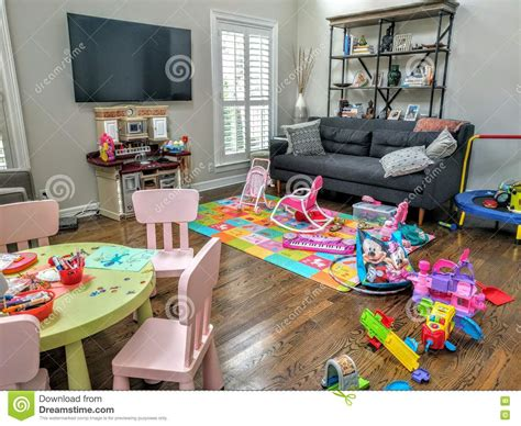 living room full  toys editorial image image  kids