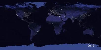Night Nasa Illumination Provide Earth Space Daily