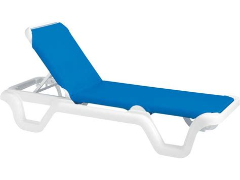 chaises grosfillex grosfillex marina resin adjustable sling chaise sold in 2