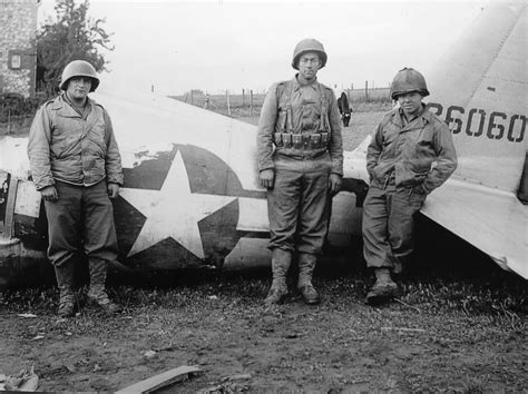 P-47 42-26060 France 1944 D-day And American Soldiers
