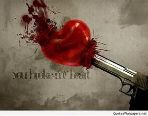 Broken Heart Wallpaper HD with saying | www.quotespics.net ...