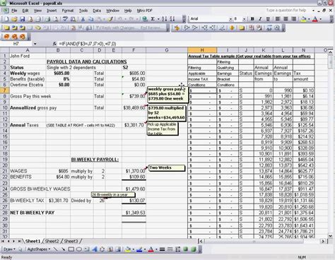 payroll excel tax table tricks youtube